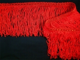 "Italian 4"" Chainette Fringe Trim Red LT-7"