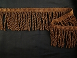 "Italian 2 1/2"" Bullion Fringe Trim Dark Brown LT-15"