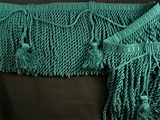 "Italian 5 1/2"" Teal Green Bullion Fringe Trim LT-28"