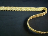 "Italian 1/2"" Ivory Gold Beige Fancy Scroll Gimp Braid Trim LT-65"