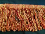 "Italian 5 3/4"" Exclusive Rust Red Gold Fancy Chainette Fringe LT-116"