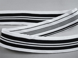 "1 1/2"" Black White Striped Athletics Knit Trim LT-314"