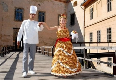 Cream Puff Wedding Dress