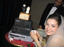Video Gamer Wedding Cake