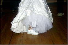 Bridal Sneakers Complete With The Ankle Tattoo