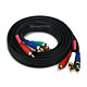 6ft 22AWG 5-RCA Component Video/Audio Coaxial Cable (RG-59/U) - Black
