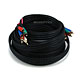 25ft 22AWG 5-RCA Component Video/Audio Coaxial Cable (RG-59/U) - Black