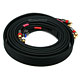 12ft 18AWG CL2 Premium 5-RCA Component Video/Audio Coaxial Cable (RG-6/U) - Black