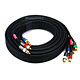 15ft 18AWG CL2 Premium 5-RCA Component Video/Audio Coaxial Cable (RG-6/U) - Black