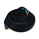 50ft 22AWG 3-RCA Component Video Coaxial Cable (RG-59/U) - Black