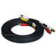 10ft Triple RCA Stereo Video Dubbing Composite Cable (3 x RG59U)