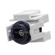 Keystone Jack - Toslink Female to Female Coupler Adapter (White)