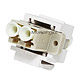 Keystone Jack - Modular Fiber Optic  LC (White)