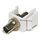 Keystone Jack - Modular Fiber Optic ST (White)