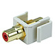 Keystone Jack - Modular RCA w/Red Center (Ivory)