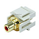 Keystone Jack - Modular RCA w/Red Center, Flush Type (Ivory)