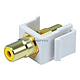 Keystone Jack - Modular RCA w/Yellow Center (White)