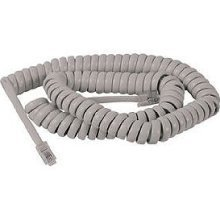 10ft rj11 telephone coiled handset cable cord wire white
