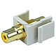 Keystone Jack - Modular RCA w/Yellow Center (Ivory)