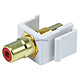 Keystone Jack - Modular RCA w/Red Center (White)