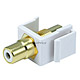 Keystone Jack - Modular RCA w/White Center (White)
