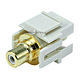 Keystone Jack - Modular RCA w/White Center, Flush Type (Ivory)