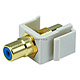 Keystone Jack - Modular RCA w/Blue Center (Ivory)