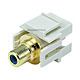 Keystone Jack - Modular RCA w/Blue Center, Flush Type (Ivory)