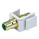 Keystone Jack - Modular RCA w/Green Center (White)