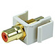 Keystone Jack - Modular RCA w/Orange Center (Ivory)