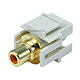 Keystone Jack - Modular RCA w/Orange Center, Flush Type (Ivory)