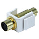 Keystone Jack - S-Video Mini 4Pin M/F (White)