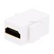 Keystone Jack - HDMI® Female to Female Coupler Adapter (White)