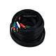 35ft 22AWG 5-RCA Component Video/Audio Coaxial Cable (RG-59/U) - Black