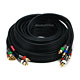 25ft 18AWG CL2 Premium 5-RCA Component Video/Audio Coaxial Cable (RG-6/U) - Black