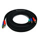 12ft 22AWG 3-RCA Component Video Coaxial Cable (RG-59/U) - Black