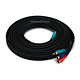 15ft 22AWG 3-RCA Component Video Coaxial Cable (RG-59/U) - Black