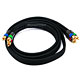 6ft 18AWG CL2 Premium 3-RCA Component Video Coaxial Cable (RG-6/U) - Black