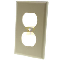 1 Gang Duplex Receptacle Thermoplastic Wall Plate (GFCI), Beige