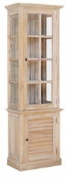 Cottage Tall Cabinet with Glass Door