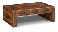 Whiskey Leather Coffee Table