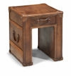 Whiskey Leather End Table