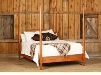 Ann Arden Rustic Cherry 4 Post Bedroom Collection