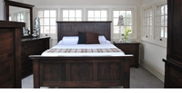 Ann Arden Rustic Walnut Panel Bedroom Set