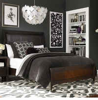 Cosmopolitan Leather Sleigh Bed