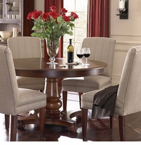 "Custom 54"" Round Pedestal Dining Table"