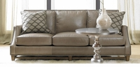 American Naturals Leather Down Cushion Sofa