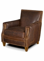 American Naturals Leather Chair with Nailheads