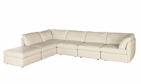 A498 Natuzzi Editions Leather Sectional Sofa