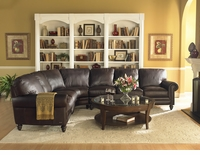 Natuzzi Editions Leather Sectional A855